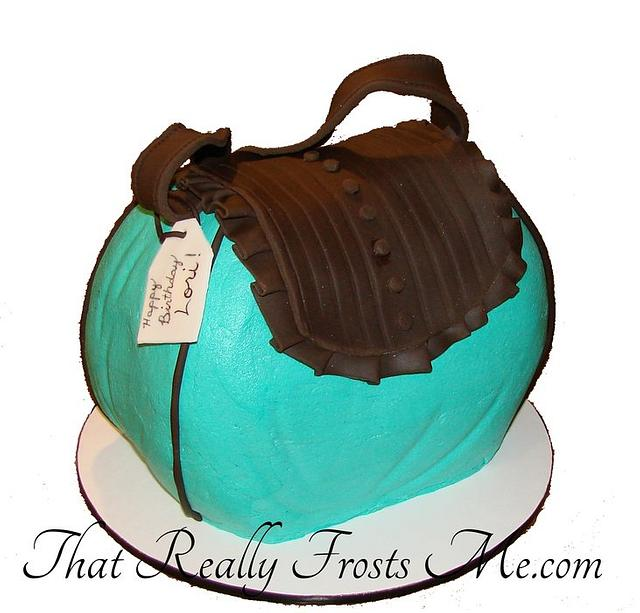 Purse Cake - Turquoise and Leather