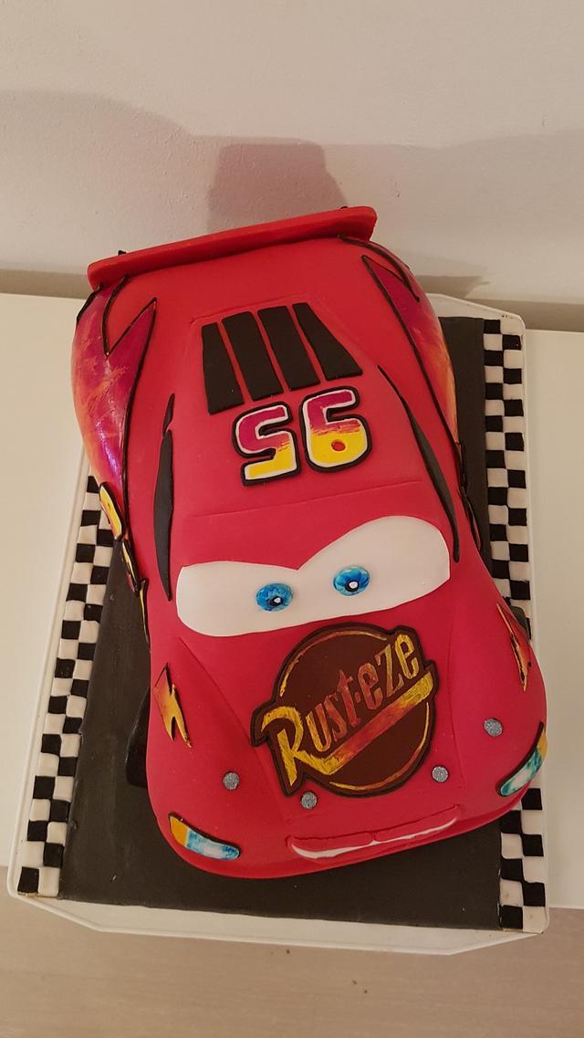 Lightning Mcqueen car cake