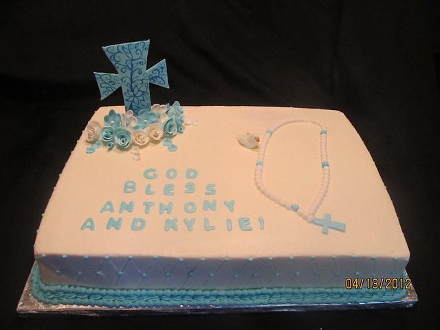 First communion cake