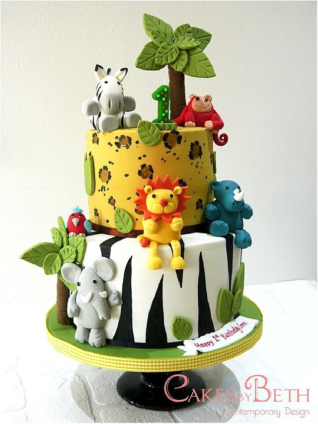 Strange Jungle Birthday Cake Cake By Beth Mottershead Cakesdecor Personalised Birthday Cards Bromeletsinfo