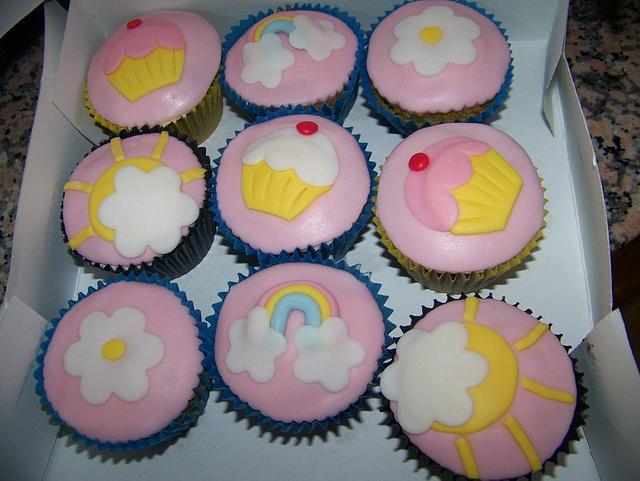 Sweet pink cupcakes