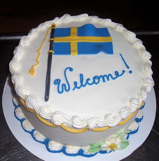 Swedish Flag Cake