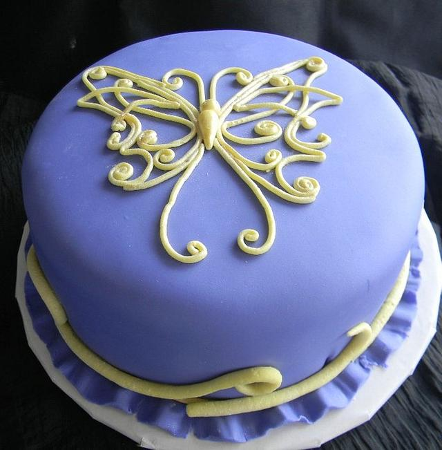 Purple Butterfly For My 50th Birthday