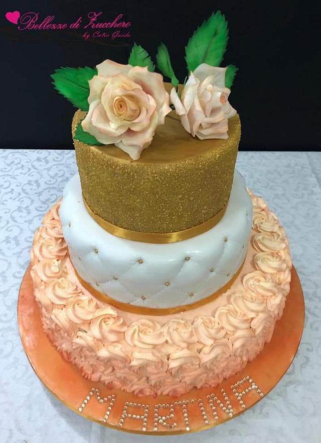 Orange & gold cake