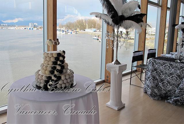 Cake balls wedding cake