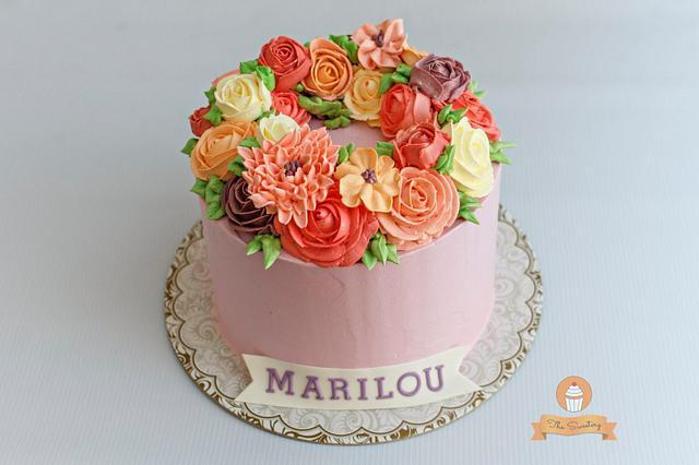 Buttercream flower cake