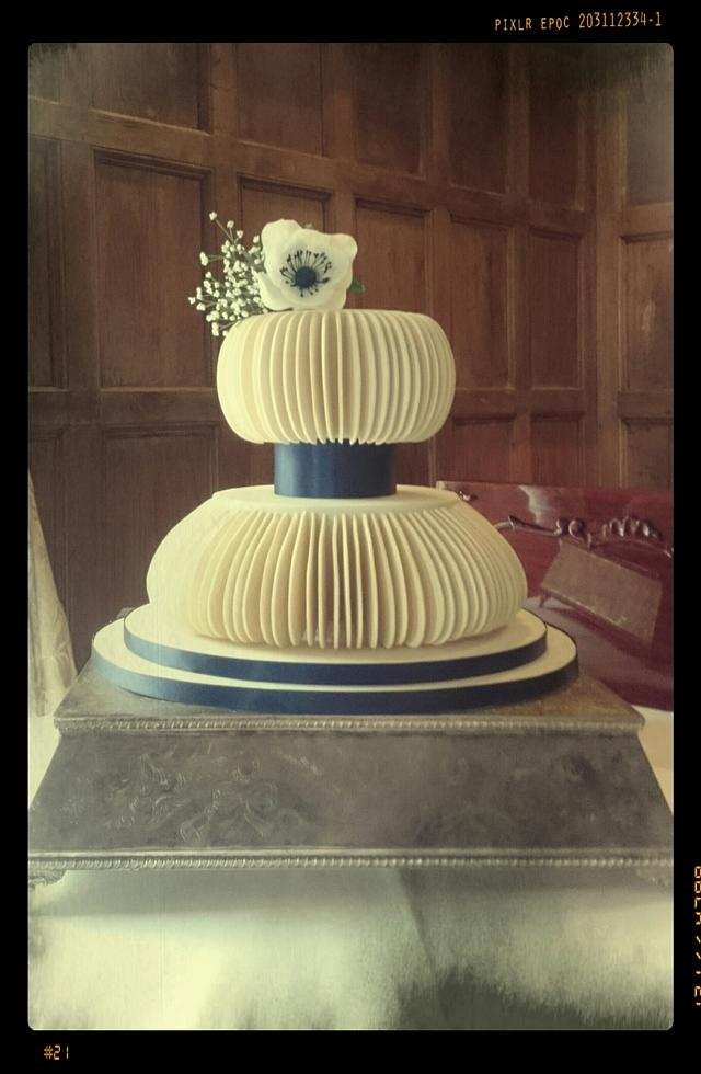Pastillage wedding cake