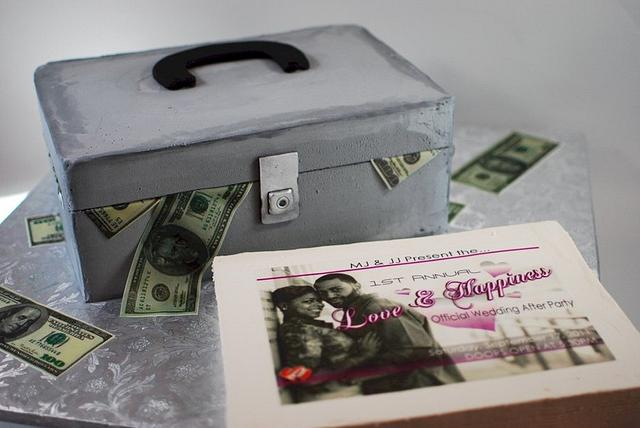 Concert Promoter Cash Box Groom's Cake