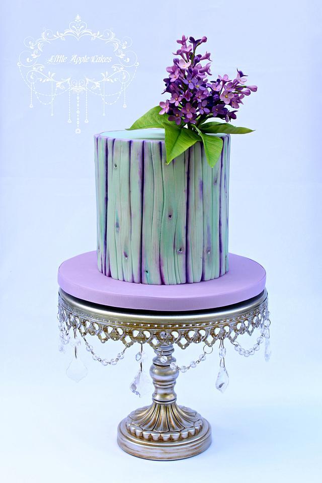 Purple dream ~ Lilac and Woodgrain Cake