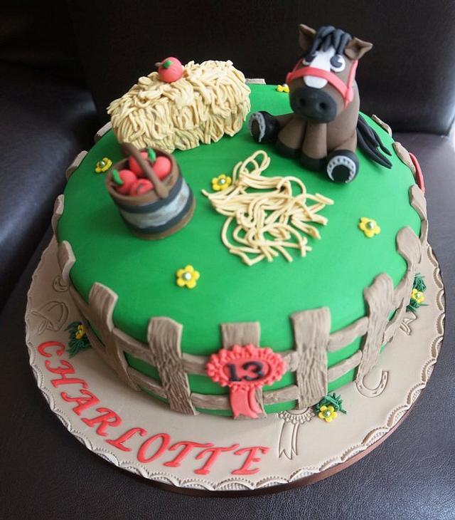 Fine Horse Themed Birthday Cake Cake By Gills Cupcake Corner Cakesdecor Birthday Cards Printable Giouspongecafe Filternl