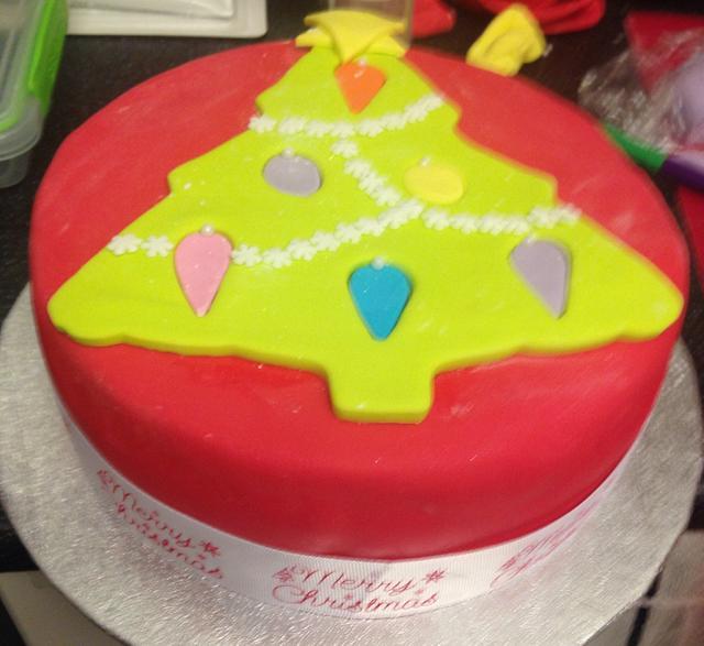 Christmas cake for school