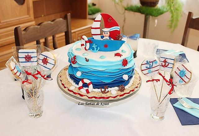 Sensational Nautical Birthday Cake Cake By Cake Boutique By Cakesdecor Personalised Birthday Cards Veneteletsinfo