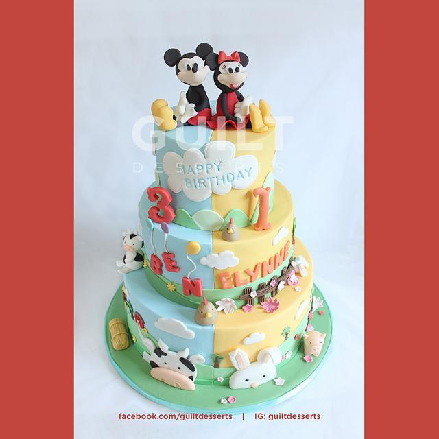Mickey & Minnie 2in1Barn Cake