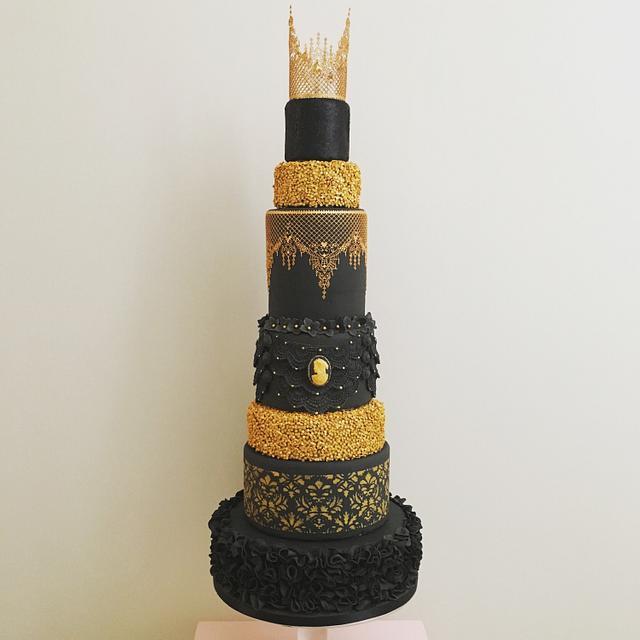 Gold Glitter Gatsby Cake