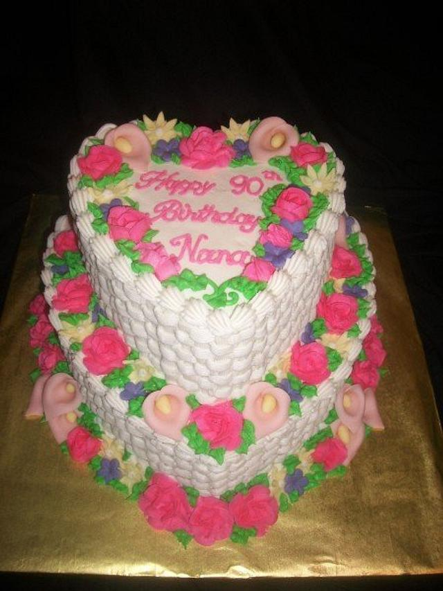 90th Birthday Cake