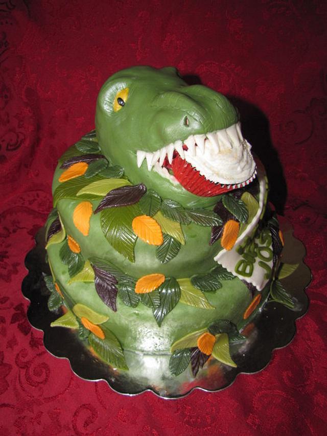 Cupcake eating Dino