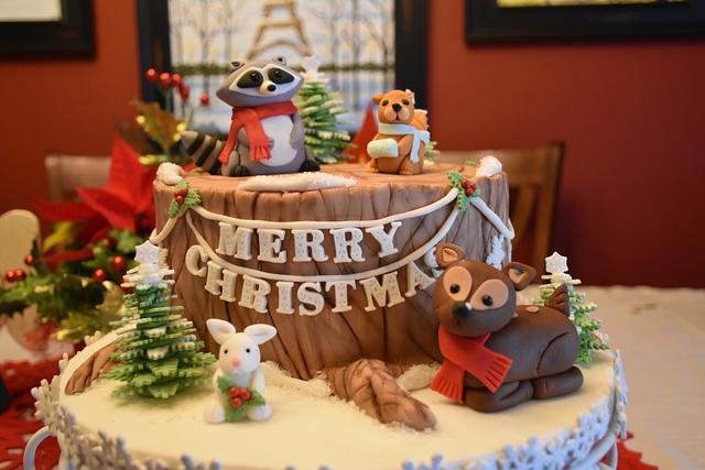 Winter Wonderland Christmas Cake!