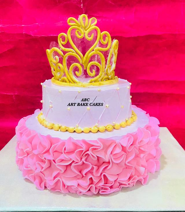 Girl princess cake