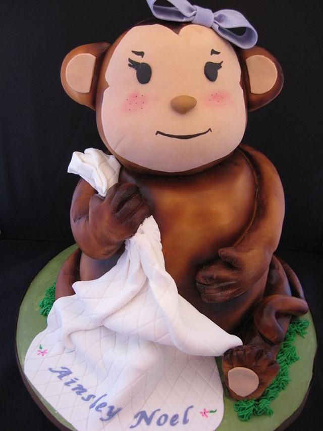 Sculpted Monkey cake