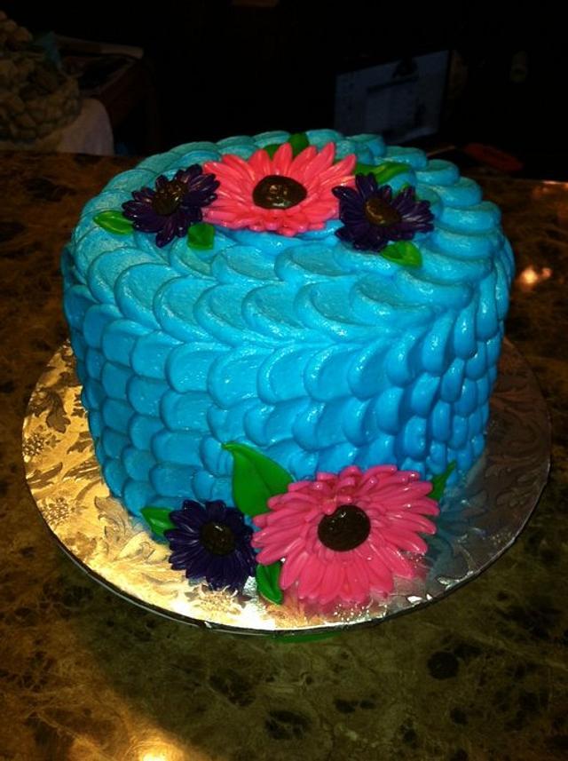 Gerbera Daisy Cake