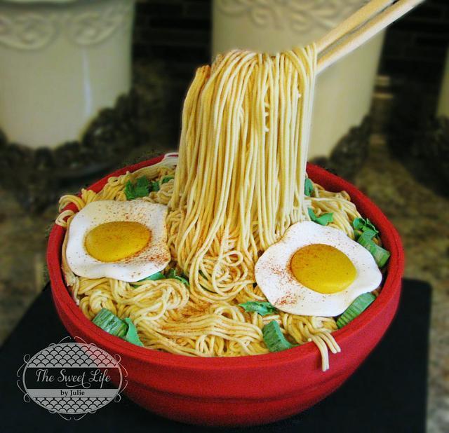 Ramen Noodles Cake