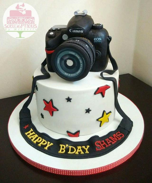 Sensational Birthday Cake With Canon Camera Topper Cake By Michelle Cakesdecor Funny Birthday Cards Online Barepcheapnameinfo