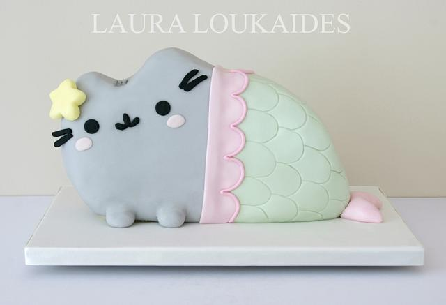 Pusheen Mermaid Cake