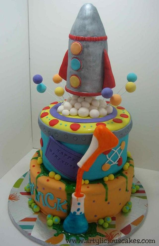 mad science cake