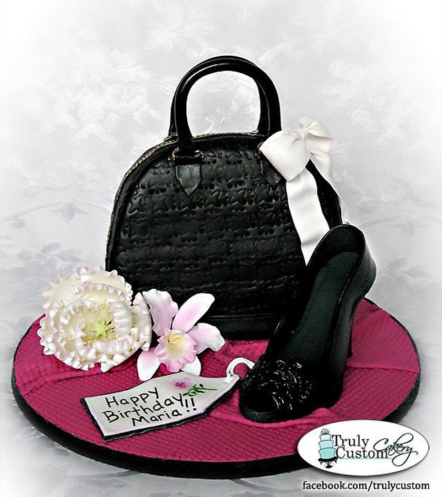 Purse & Shoe Birthday Cake