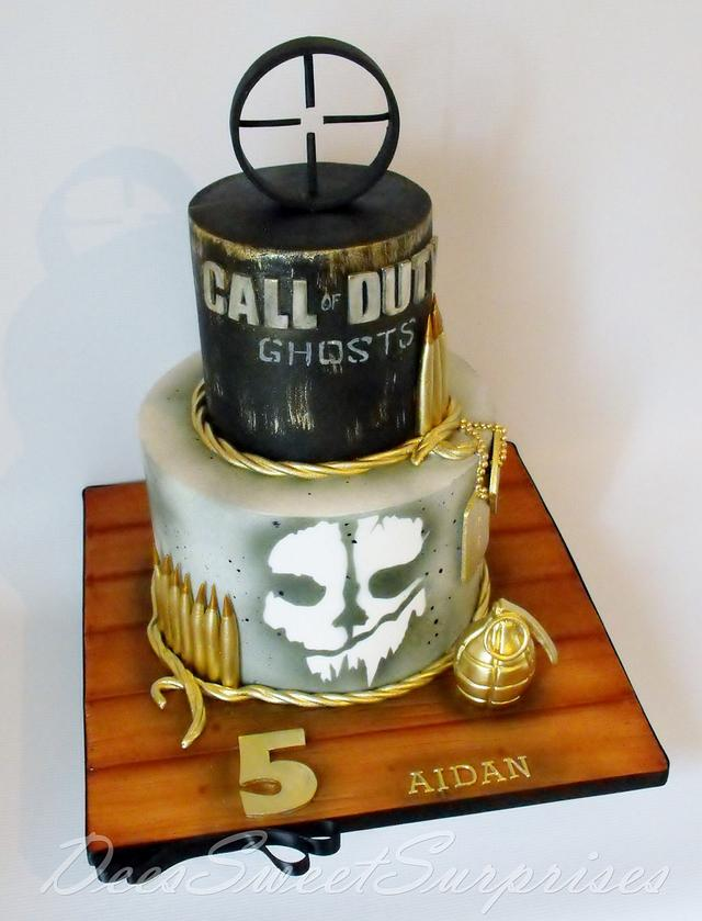 Marvelous Call Of Duty Birthday Cake Cake By Dee Cakesdecor Funny Birthday Cards Online Inifodamsfinfo
