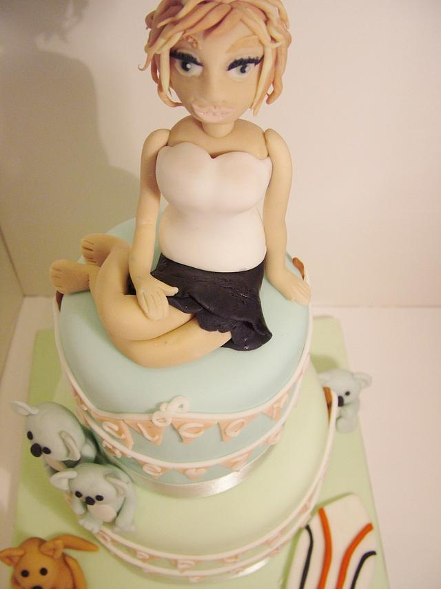 Welcome home & birthday cake