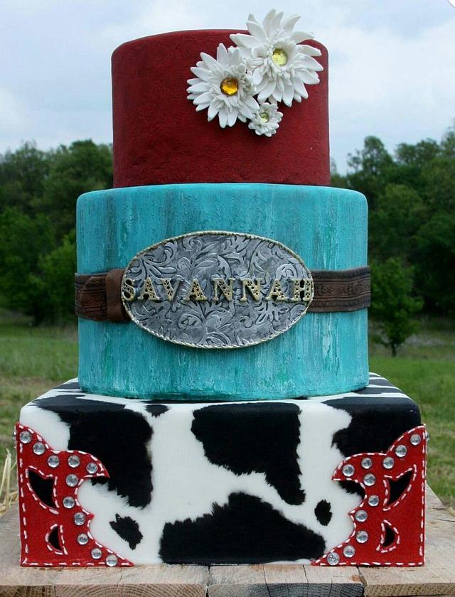 Astounding Cowgirl Birthday Cake Cake By Pamela Jane Cakesdecor Personalised Birthday Cards Bromeletsinfo