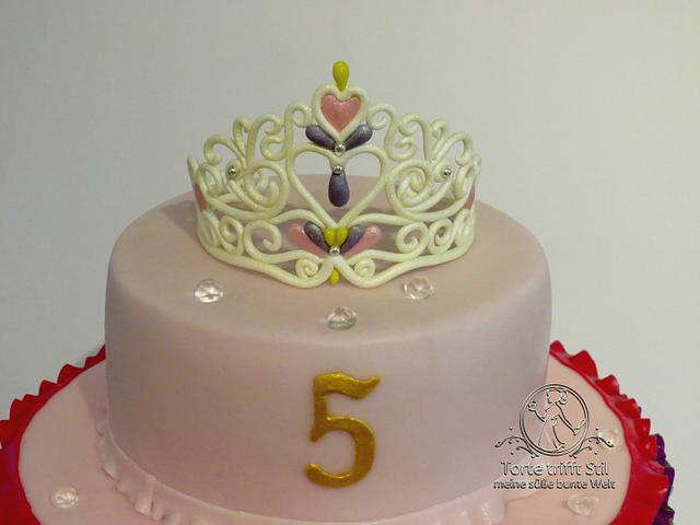Colorful princess cake