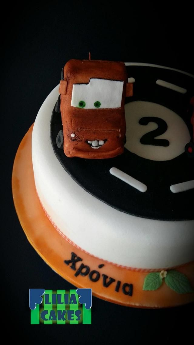 Mcqueen and Mate Cake