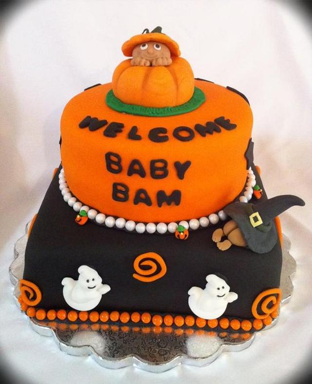 halloween baby shower cake!