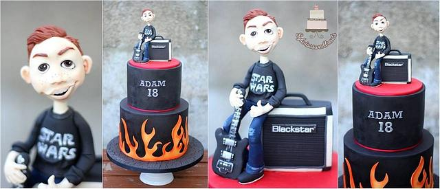 Cake for Adam who loves guitar and star wars