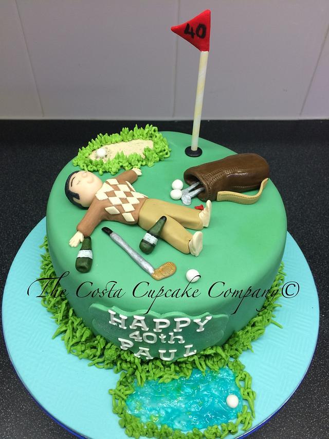 19th Hole Golf Cake