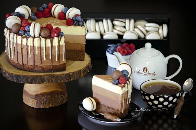 Triple chocolate mousse cake!.....
