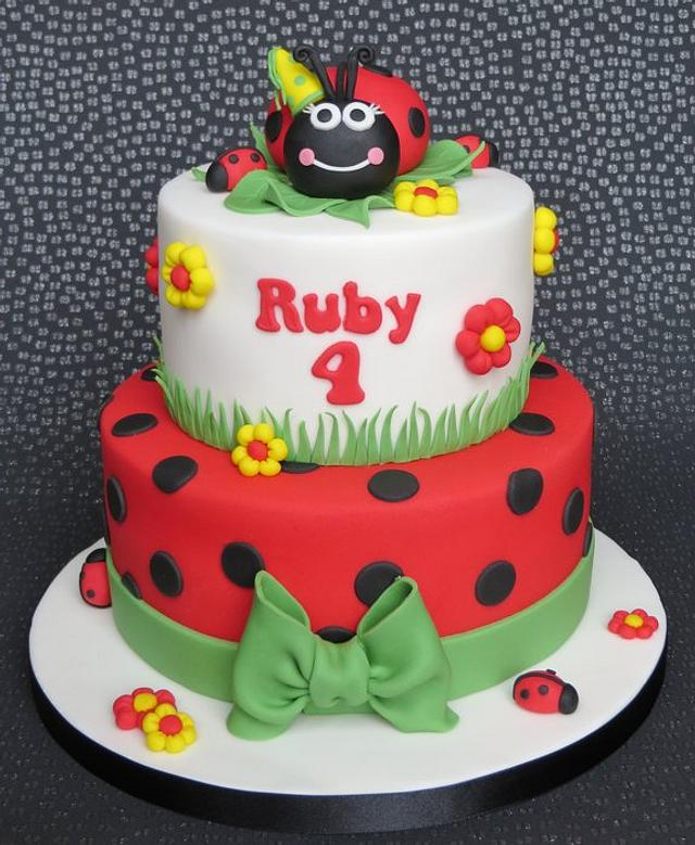 Tiered Ladybird Cake