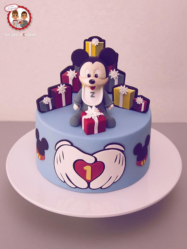 Miraculous Baby Mickey 1St Birthday Cake By Cake Revol Cakesdecor Funny Birthday Cards Online Alyptdamsfinfo