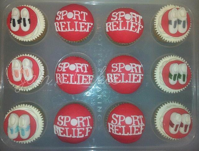 Sport Relief Cupcakes
