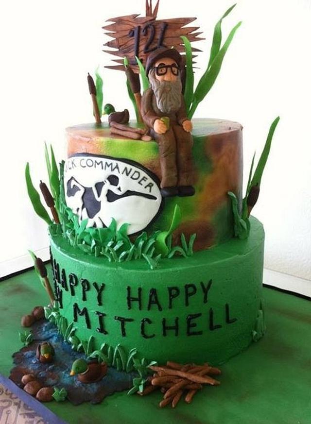 Admirable Happy Happy Happy Duck Dynasty Birthday Cake Cake By Cakesdecor Personalised Birthday Cards Veneteletsinfo