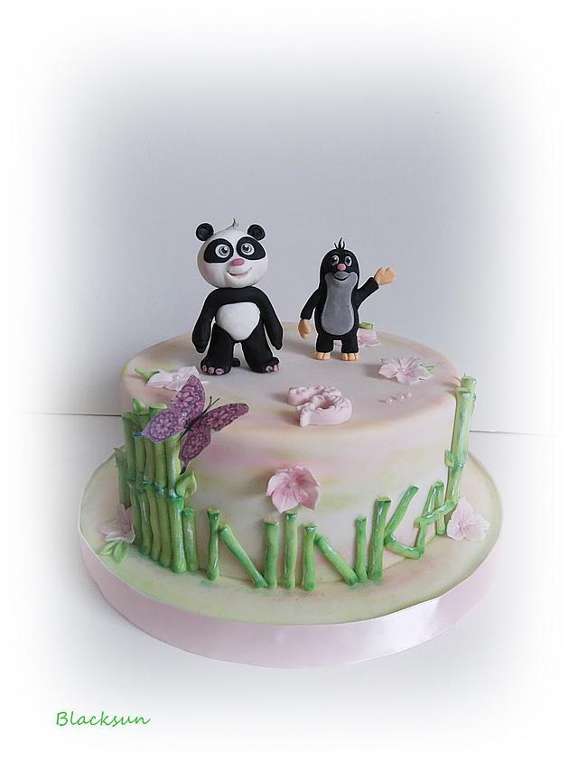 Panda and little mole