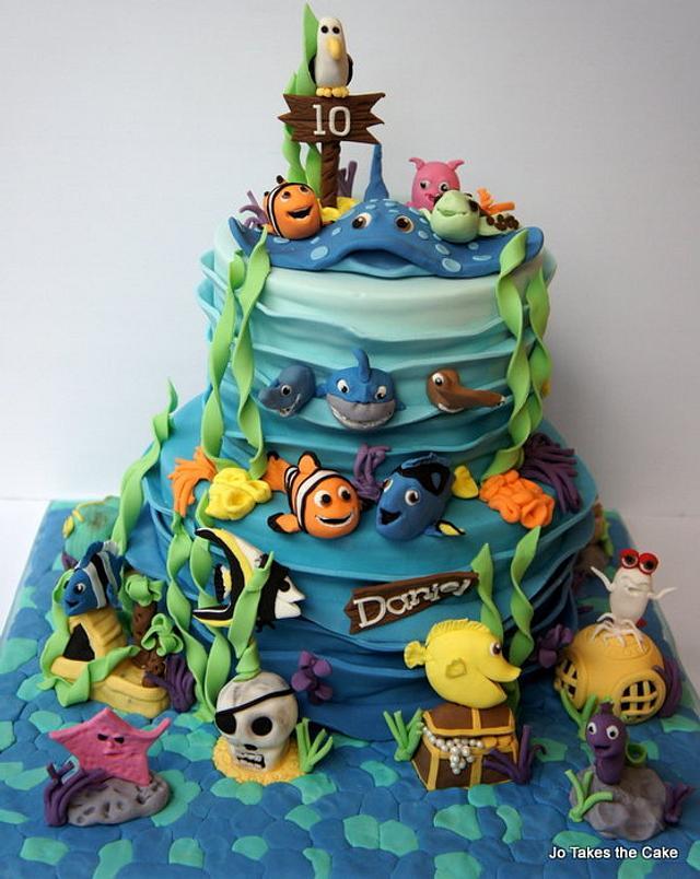 Prime Finding Nemo Chaos In The Aquarium Cake By Jo Cakesdecor Funny Birthday Cards Online Necthendildamsfinfo