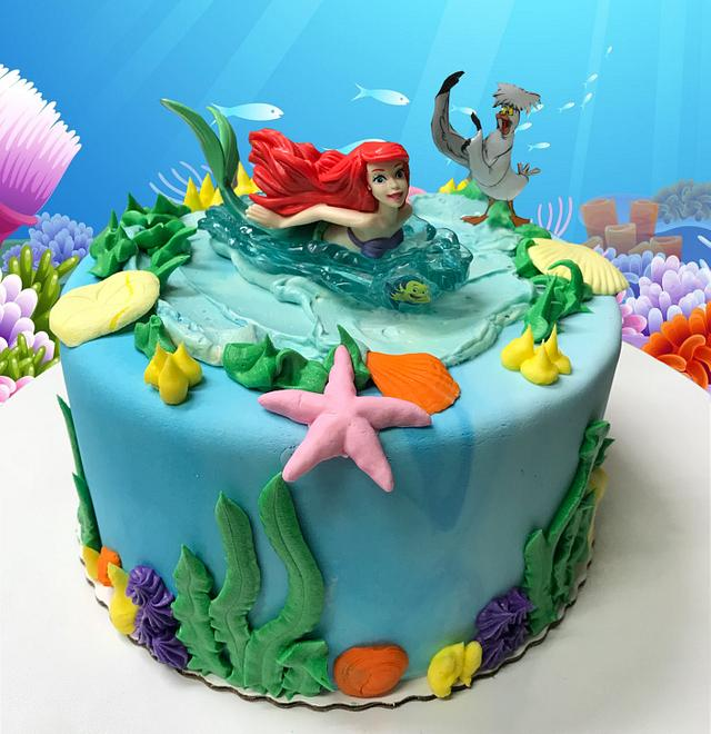 Astounding Ariel Birthday Cake Cake By Mstreatz Cakesdecor Personalised Birthday Cards Bromeletsinfo