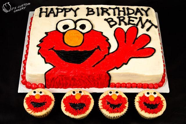 Elmo Cake and Cupcakes