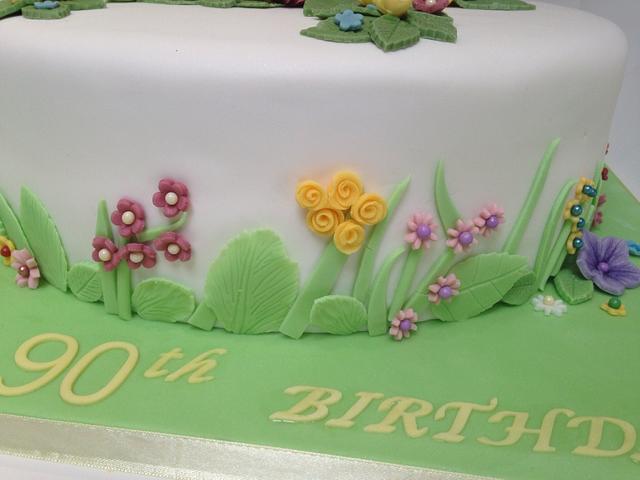 English garden cake