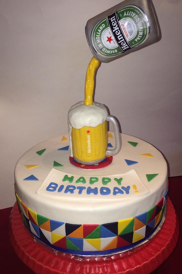 Incredible Beer Birthday Cake Cake By Bettys Cake Creations Cakesdecor Funny Birthday Cards Online Elaedamsfinfo