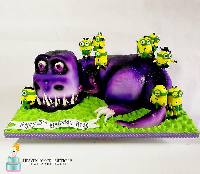 Minions and T-Rex