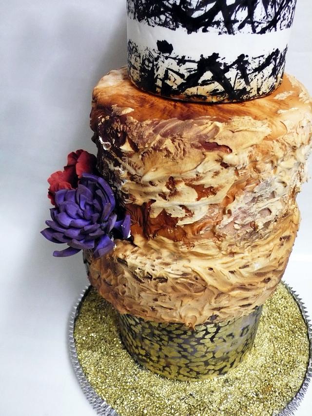 Gotham Tiered Cake